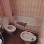 Состояние туалета до ремонта водопровода