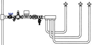 коллекторная разводка воды
